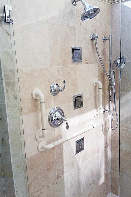 Multiple Grab Bar Installed by Locally Owned Treasure Coast Grab Bars